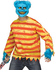 Furry Creepy Blue Killer Bear Adult Halloween Costume Set-STD