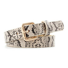 Ladies Women Dress Thin Waist Belt  Snake Skin Leather  Belt LI