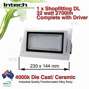 1 x LED Shop fitting Light 32Watt 4000k 2700lm with AU Plug