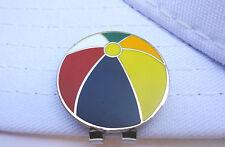 Beach Ball Golf Ball Marker - W/Bonus Magnetic Hat Clip