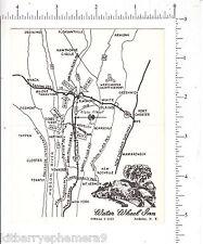 6287 Water Wheel Inn Ardsley NY C 1959 Business Card Area Map