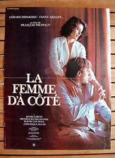 TRUFFAUT AFFICHE LA FEMME D'À CÔTÉ  40 X 52 CM GÉRARD DEPARDIEU FANNY ARDANT