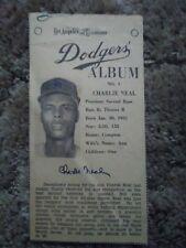 1960 Los Angeles Examiner CHARLIE NEAL DODGERS Newspaper Card #4 (sku666)