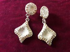 BIJOU 32 Clips Boucles d'oreilles Pendants métal doré Vintage 90 clips earrings