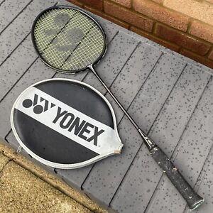 Adult YONEX GRAPHLEX 150 Full Carbon Shaft Badminton Racket & Head Case - Black