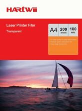 200 Sheets Overhead Projector Film OHP Film Clear A4 For Laser Printer AU Uinkit