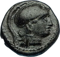 LYSIMACHOS 306BC Thrace King Authentic Ancient Greek Coin ATHENA & LION i65673