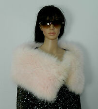PINK SHADOW FOX FUR STOLE SCARF CAPE EVENING STYLE LENGTH 40''