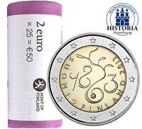 25 x Finnland 2 Euro 2013 bfr. Finnisches Parlament in Original Rolle