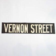 Vernon Street Tram bus blind destination linen vintage original printed Glasgow