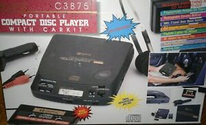 Portable GPX Compact Disc Player Model C3875, original box, carkit & accessories