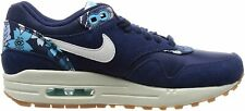 Original Women's Nike Air Max 1 Print Navy Blue Trainers 528898 401