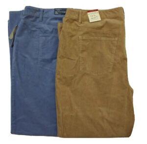 Talbots FLAWLESS Five-Pocket Corduroy Cord Pants Blue Brown Womens Plus Size 22W