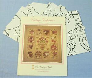 Vintage Valentine Hearts Romantic Applique Quilt Pattern by Vintage Spool