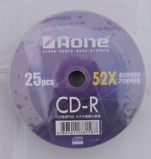 100 x AONE logo Non Imprimable Cdr 52 x 80 Min 700MB