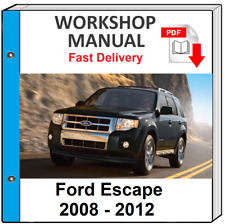 FORD ESCAPE 2008 2009 2010 2011 2012 SERVICE AND REPAIR MANUAL WORKSHOP MANUAL