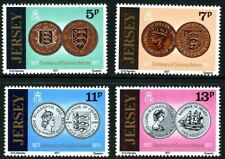 JERSEY 1977 CURRENCY REFORM SET OF ALL 4 COMMEMORATIVE STAMPS MNH (d)