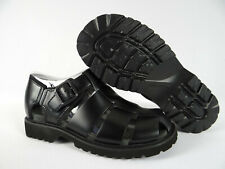 Mens Rockport Black Sandals Peregian Leather Casual Strap Size 8