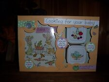 COOKING FOR YOUR BABY RECIPE BOOK PLUS 2 STORAGE POTS COOKBOOK FOR MOMS