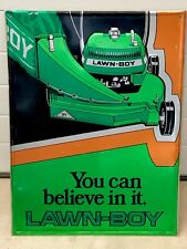 Original Lawn Boy Dealer Mower Sign Gas Soda Advertising Colorful Seldom Seen