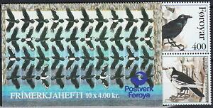 Faroe Booklet Pied Raven 1995 MNH-25 Euro