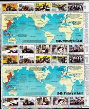 US HISTORY SCOTT #2981 WWII 1945: VICTORY AT LAST 20 MINT NH VF 32c STAMP SHEET