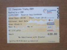 Australia v USA, 13/09/2004 - ICC Champions Trophy (Rose Bowl) Match Ticket.