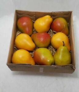 "Artificial Pears 3.5"" Decorative Faux Fruit Realistic Set Of 12 (read)"