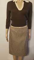 Fendi Logo Brown Skirt ITaly 40/US 4