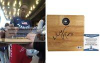 Morgan Tuck UConn Huskies Autograph Signed Basketball Floor Proof Beckett BAS