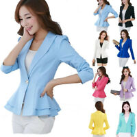 FASHION JACKET WOMEN Slim OL Suit Casual Blazer Coat Slender Outwear Abrigos XXL