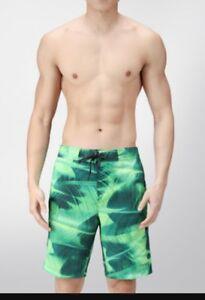 Calvin Klein Green PALM PRINT19 BOARDSHORT for Men size Large   W 46