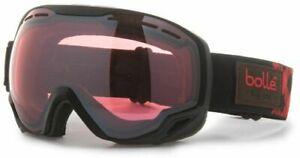 Bolle Emperor 21453 Black & Red Heritage Ski Goggle with Vermillon Gun Lens