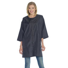 Hair Stylist Jacket Cover Up Black Nylon Snap Closure - One Size DTA008/SE128