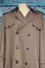 Dior Monsieur Sz 44R Trench Coat Lined Warm Winter Wear Dark Khaki Classic