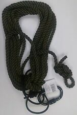 Treestand Personal Safety Line Kit, Nylon GI Rappelling Rope, Locking Carabiner