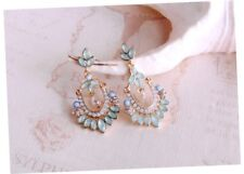Bohemia Earrings Exaggerated Simulated Pearl Flowers Long Big Jewelry Women