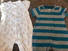 two baby gap 3 to 6 months oneies