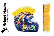 Helmet Hawks ™ Mohawk Golden Yellow Motorcycle Bike BMX Helmet Mohawks