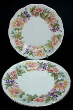 TWO 1980's Paragon Country Lane Pattern Side or Bread Size Plates 16cm - in VGC