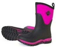 MUCK ARCTIC SPORT II MID BLACK PINK WOMENS INSULATED BOOT WATERPROOF FREE SHIP