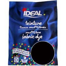 Teinture Noir pour Tissu Textile linge Vêtement ideal 15 G multifibres