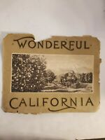 Vintage poster Wonderful California very old no year initial Rare size 9.7/11