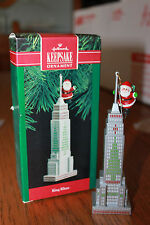 King Claus Empire State Building Vintage 1990 Hallmark Keepsake Ornament Signed