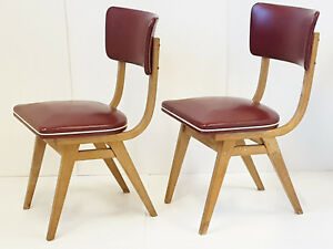 Pair Of Chairs French Vintage 1950 Bordeaux Rockabilly 50S 50'S Years 50