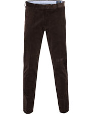 Polo Ralph Lauren Men's Brown Stretch Slim Fit Corduroy Pants Trousers Sz 34 34