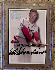 Red Schoendienst 2000 Fleer Greats of the Game Autograph Hall of Famer ⚾️ GOAT