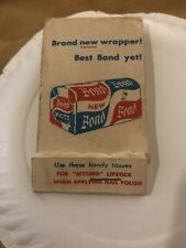 Vintage BOND BREAD Setting Lipstick Tissue Booklet Extremely Rare Never Seen One