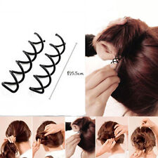 10PCS Black Spiral Spin Screw Pin Hair Style Design Curly Clips Twist Barrettes