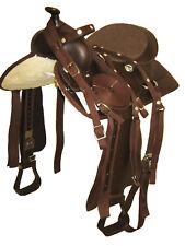 "'THSL'  WESTERN HORSE SYNTHETIC SADDLE PKG 16"" BROWN (1010BR) * NEW *"